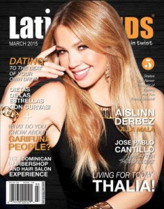 Latin Trends Magazine March 2015 edition with my interview to Thalia as the cover