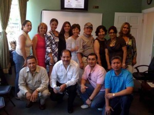 With the attendees of my workshop